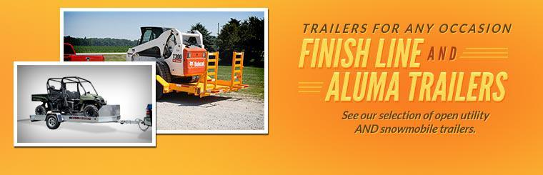 Finish Line and Aluma Trailers: Contact us for details.