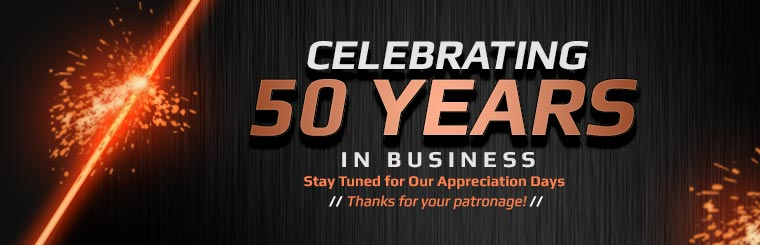Celebrating 50 Years in Business: Thanks for your patronage!