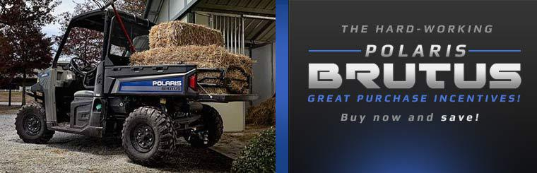 Great Purchase Incentives on the Polaris BRUTUS: Buy now and save!