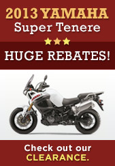 2013 Yamaha Super Tenere. Huge rebates! Check out our clearance.