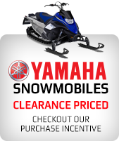 Yamaha Snowmobiles. Clearance Priced. Checkout our purchase incentive.