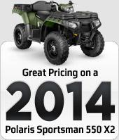 Great pricing on a 2014 Polaris Sportsman 550 X2