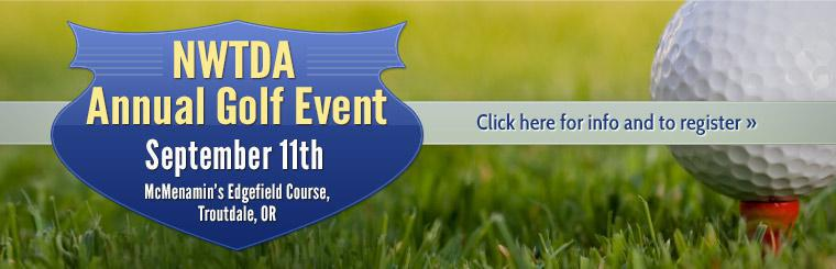 Join us for the NWTDA Annual Golf Event on September 11th! Click here for info and to register.