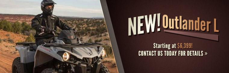 2015 Can-Am Outlander L: Contact us today for details.