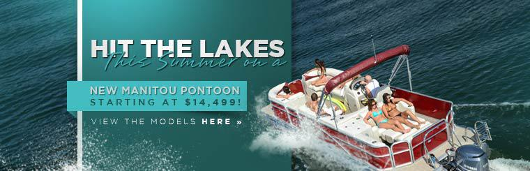 Hit the lakes this summer on a new Manitou pontoon, now starting at $14,499! Click here to view the models.