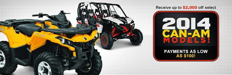 Receive up to $2,000 off select 2014 Can-Am models!