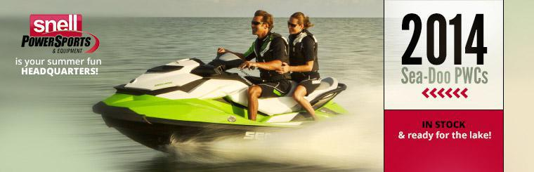 Snell PSE is your summer fun headquarters! The 2014 Sea-Doo PWCs are in stock and ready for the lake!