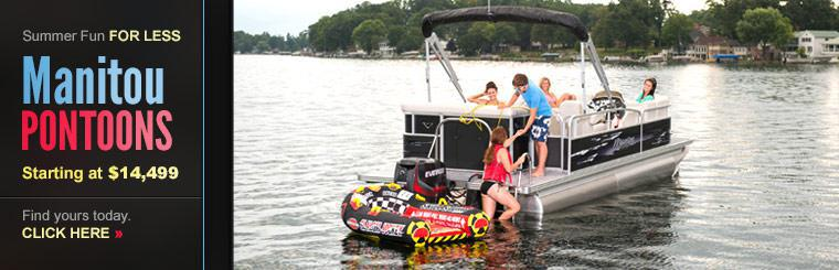 We have Manitou pontoons starting at $14,499! Click here to find yours today.