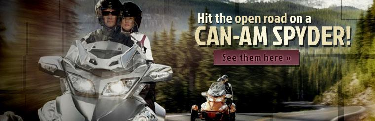 Hit the open road on a Can-Am Spyder!