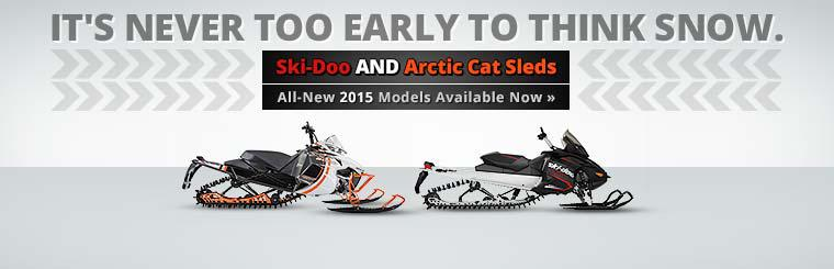 Ski-Doo and Arctic Cat Sleds: The all-new 2015 models are available now!