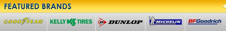 We carry products from Goodyear, Kelly, Dunlop, Michelin®, and BFGoodrich®.
