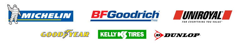 We carry products from Michelin®, BFGoodrich®, Uniroyal®, Goodyear, Kelly, Dunlop.