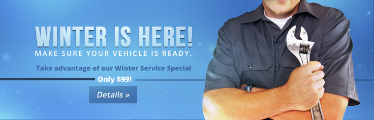 Click here to take advantage of our Winter Service Special!