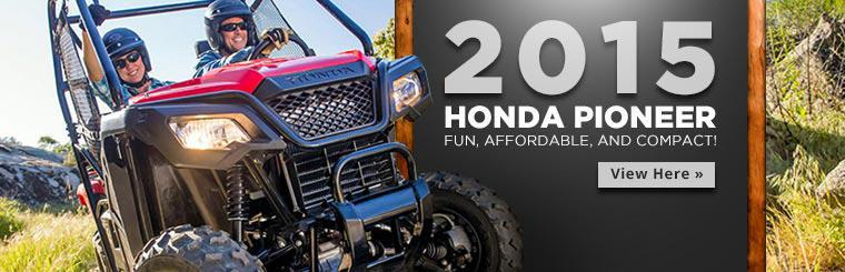 2015 Honda Pioneer: Click here to view the models.