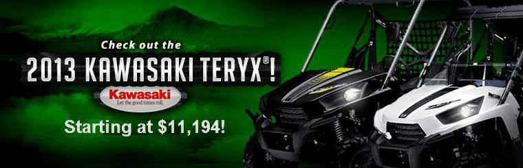 2013 Kawasaki Teryx Year End Clearance: Starting at $11,194!