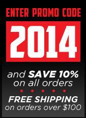 Enter promo code ''2014'' and save 10% on all orders. Free shipping on orders over $100.