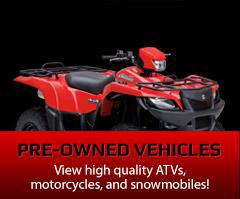 Pre-Owned Vehicles: View high quality ATVs, motorcycles, and snowmobiles!