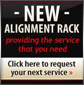 New Alignment Rack: Providing the service that you need. Click here to request your next service.