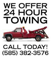 We offer 24-hour towing!