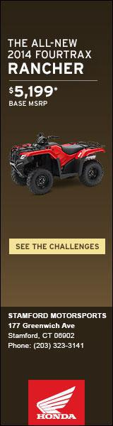 The All-New 2014 FourTrax Rancher is at Stamford Motorsports.