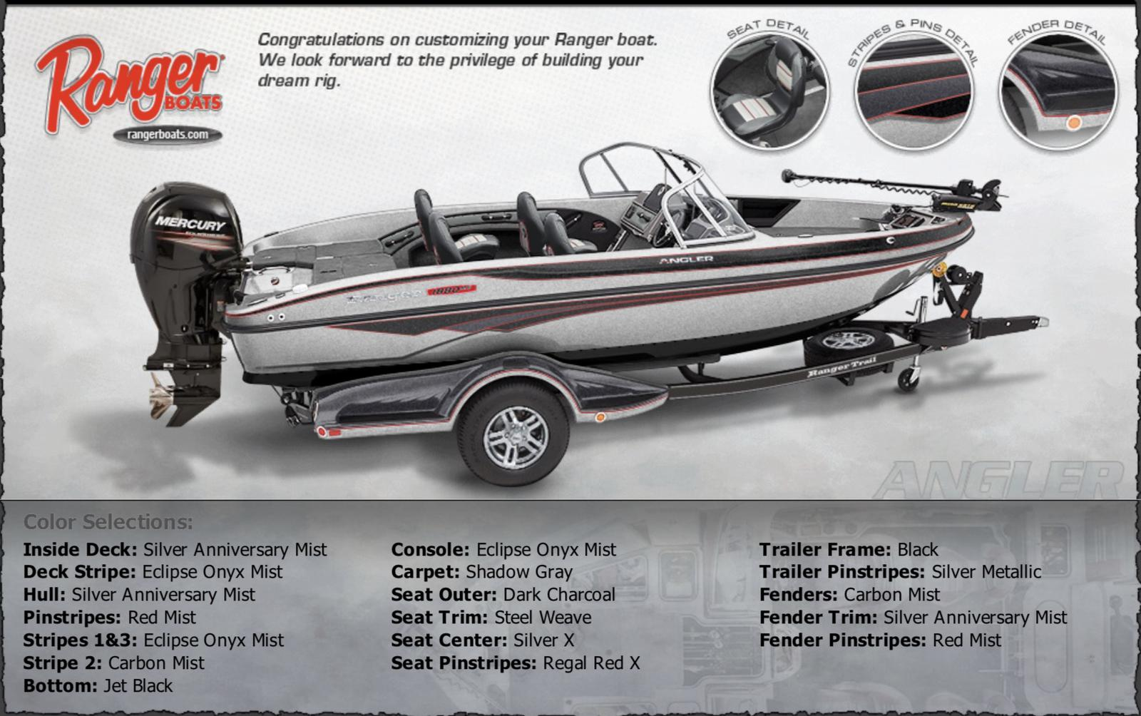 2019 Ranger 1880MS Angler w/Mercury 150XL Pro XS 4S for sale