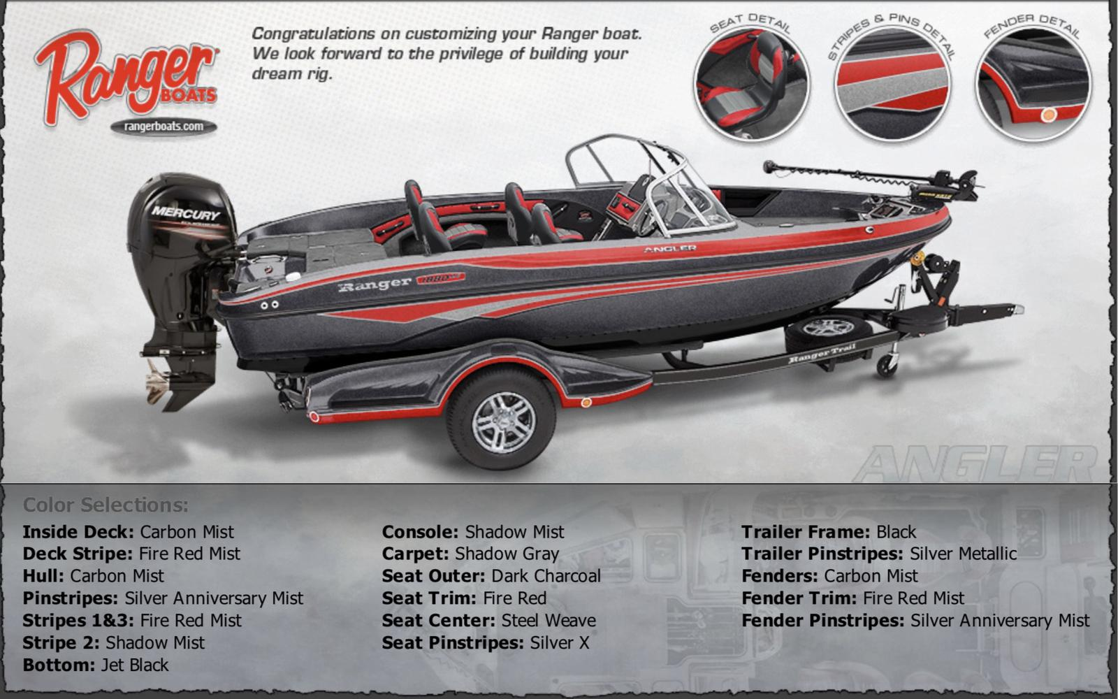 2019 Ranger 2080MS Angler w/Mercury 250XL Pro XS 4S for sale in