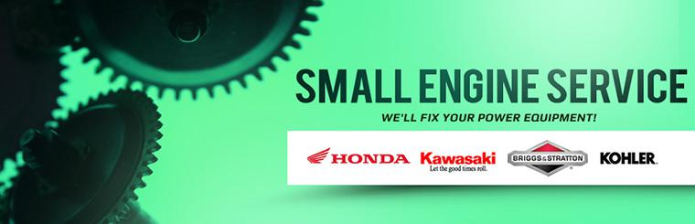 Small Engine Service: We'll fix your Honda, Kawasaki, Briggs & Stratton, and Kohler power equipment!