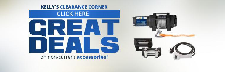 Kelly's Clearance Corner: Click here for great deals on non-current accessories!