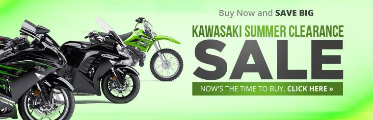 Kawasaki Summer Clearance Sale: Now's the time to buy. Click here to view the models.