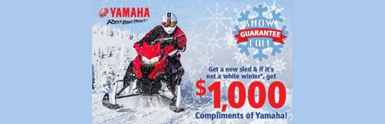 Yamaha's Snow Fall Guarantee