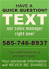 Have a quick question? Text our sales manager right now!