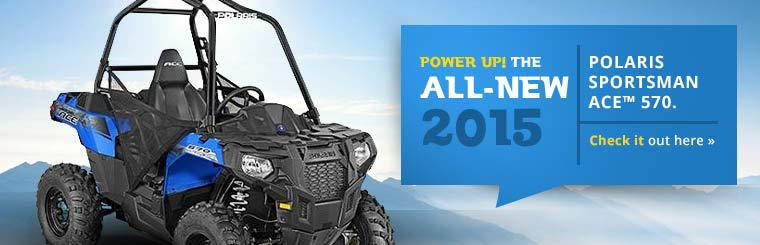 Power up with the all-new 2015 Polaris Sportsman ACE™ 570. Click here to check it out.