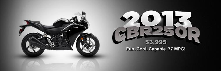 2013 CBR250R is available for just $3,995. Click here to check it out.