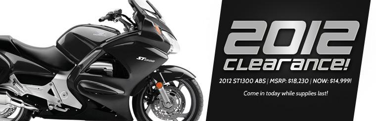 The 2012 Honda ST1300 ABS is now just $14,999! Come in today while supplies last!