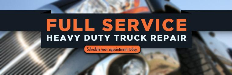 We offer full service heavy duty truck repair. Schedule your appointment today.