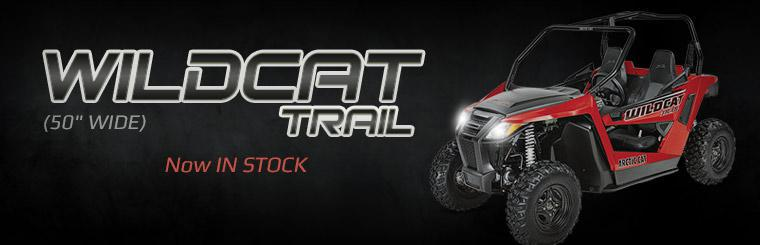 The 2014 Arctic Cat Wildcat Trail (50 inch wide) is now in stock.
