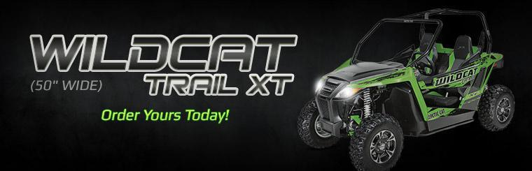 The 2014 Arctic Cat Wildcat Trail XT (50 inch wide) is now in stock.