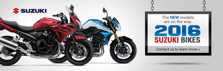2016 Suzuki Bikes: The new models are on the way! Click here to view our selection.
