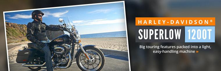 Harley-Davidson® SuperLow 1200T: Big touring features are packed into a light, easy-handling machine.