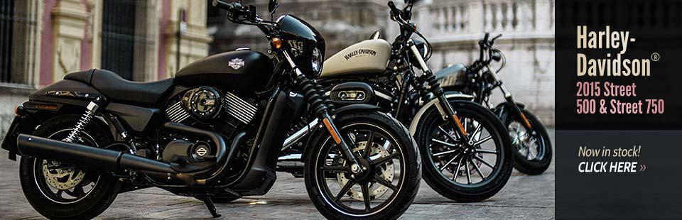Harley-Davidson® 2015 Street 500 and Street 750: Click here to view the models.