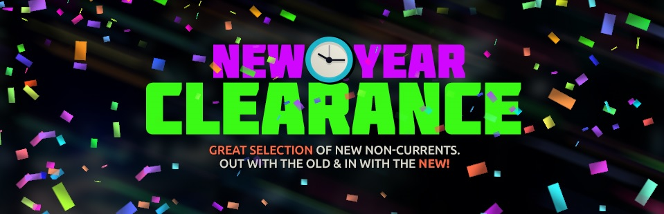 New Year Clearance: We have a great selection of new non-currents! Click here to view our selection.
