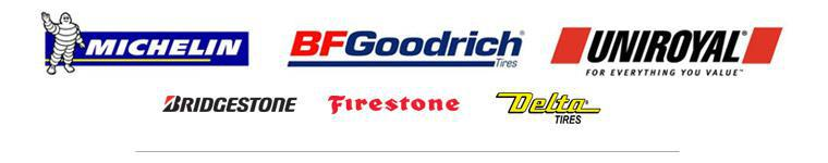 We carry products from Michelin®, BFGoodrich®, Uniroyal®, Bridgestone, Firestone, and Delta.
