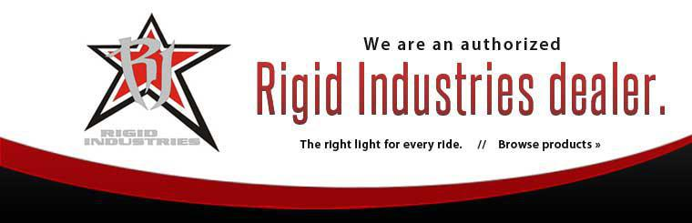 We are an authorized Rigid Industries dealer. Click here to browse products.