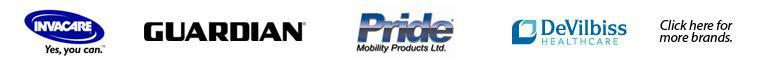 We carry products from Invacare, DeVilbiss, Jay, Guardian, Pride.