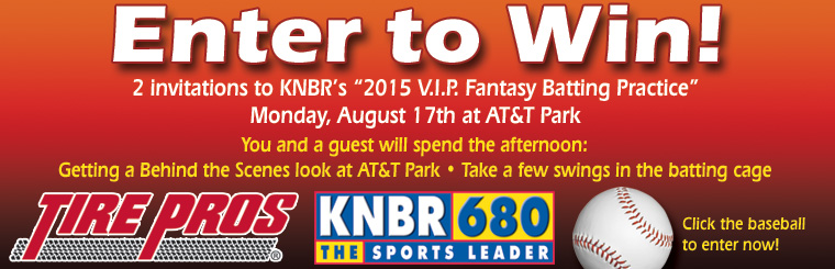 Enter to Win Fantasy Batting Practice Tickets to AT&T Park