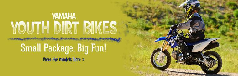Yamaha Youth Dirt Bikes: Click here to view the models.
