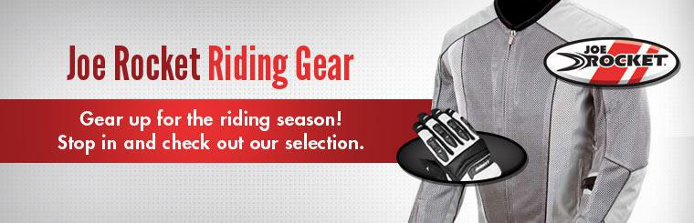Gear up for the riding season with Joe Rocket riding gear! Stop in and check out our selection.