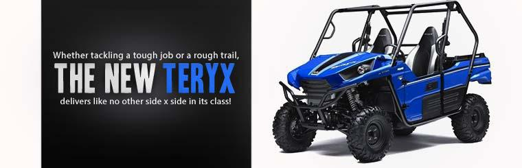Whether tackling a tough job or a rough trail, the 2014 Kawasaki Teryx delivers like no other side x side in its class!