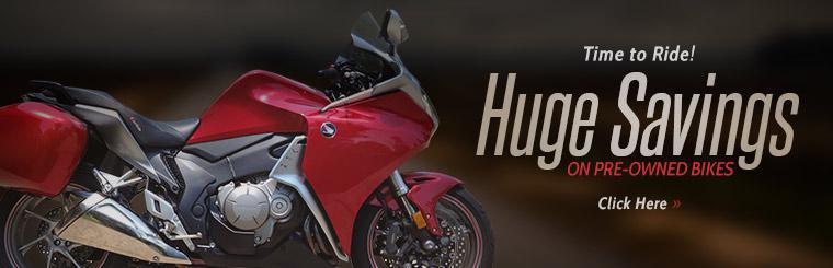 Huge Savings on Pre-Owned Bikes: Click here to view the models.