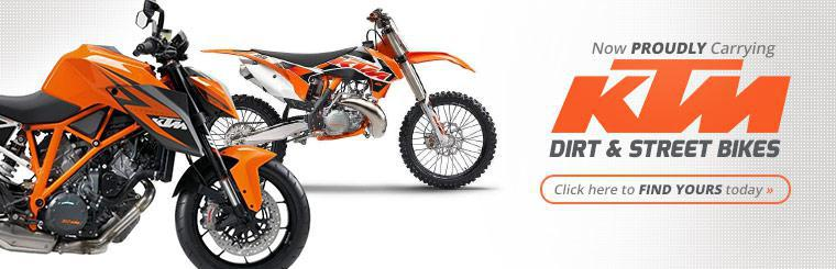Now Proudly Carrying KTM Dirt and Street Bikes: Click here to find yours today.
